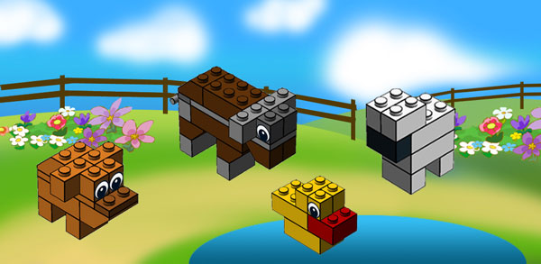 Make Cute Animals With Lego Lego Farm Lego Circus And Lego Africa